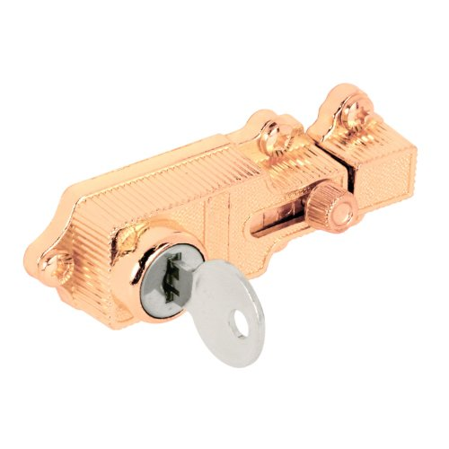 Defender Security U 9885 Deadbolt Lock, Keyed, Brass Plated