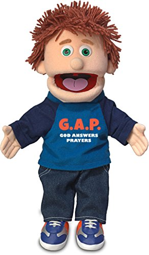 "14"" God Answers Prayers, Peach Boy, Christian Ministry Hand Puppet"