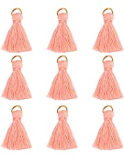 Wholesale 100pcs Mini Tassel Charms Tiny Short Cotton Tassel Supplies for Crafts and Jewelry Making