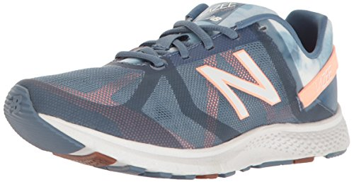 New Balance Women's Vazee WX77V1 Training Shoe Cross-Trainer, Deep Porcelain Blue/Bleached Sunrise, 7.5 D US