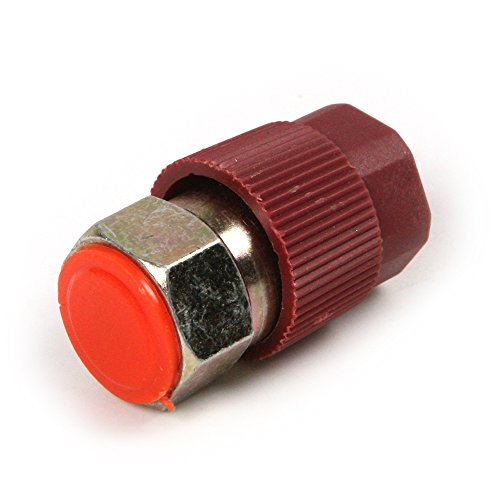 Atoplee Blue Low Pressure 1/4 inch & Red High Pressure 3/16 inch Screw Nipple/Adapter - R12 Connector to R134a Joint with Quick Disconnect for Vehicle Air Conditioner
