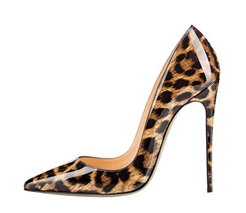 Stilettos Talons Taille Léopard Grande Chaussures B Aiguille Femmes Escarpins Ubeauty Talon Femme TtwgZwq