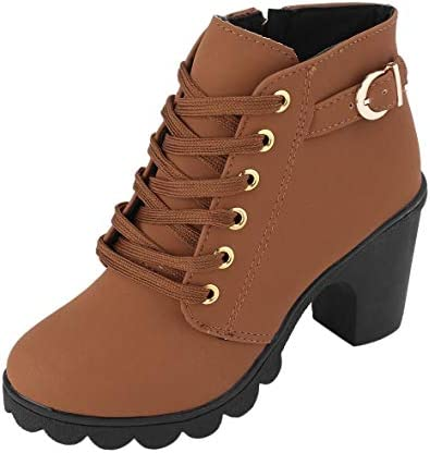 Details about  /Women/'s Fashion Elastic Top Zippers Platform Chunky Heel Ankle Boots Shoes BYW2