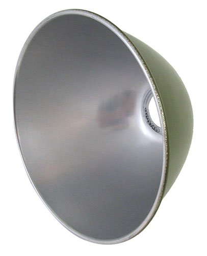 U.S. Military Olive Drab Painted Aluminum Lamp Shade 7