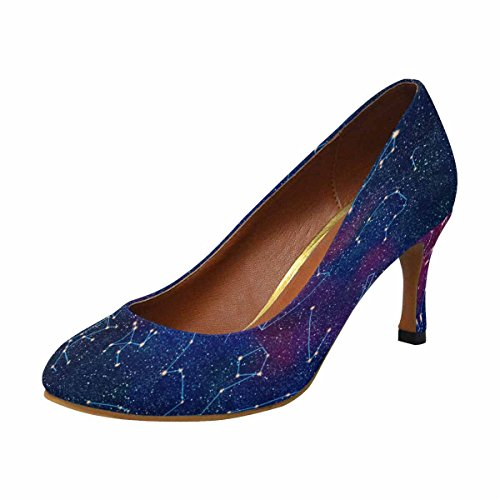 InterestPrint Womens Classic Fashion High Heel Dress Pump Constellation tHyfAnNni