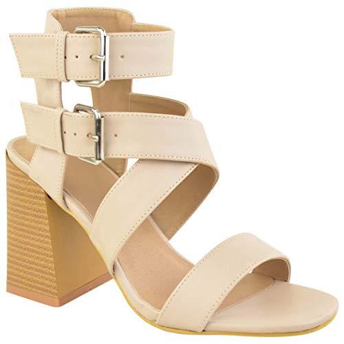 Tira Heelberry Sintética Zapatos Verano Alto Números Sandalias Cruzada En Piel Carne Fiesta Bloque Thirsty Mujer Tacón Fashion Ancho Por ZA0qwUxx
