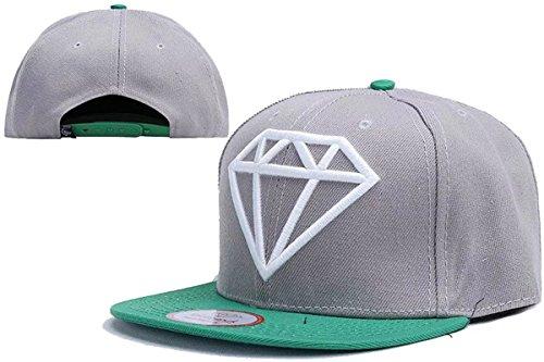 Cameinic Hats Hip Pop Flat Bill Diamond Brim Snapback Hat