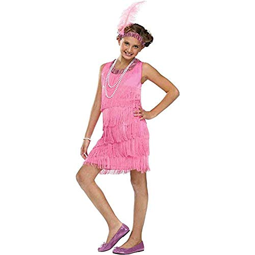 Fun World Flapper Costume, Medium 8 - 10, Pink ()