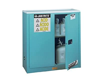 Justrite 893002 Corrosive Safety Cabinet, 30 Gal, Blue
