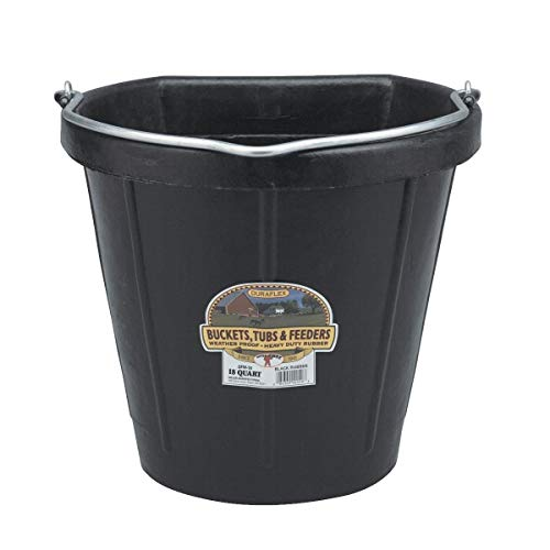 Little Giant Rubber Flat Back Bucket - DF18FB (Pack of 2)