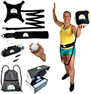 Volley Pro Premium Volleyball Rebounder & Serving Trainer.Solo Volleyball Spike Trainer for Indoor or Outd
