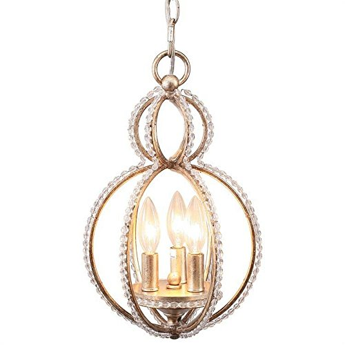 Garland 3 Light Convertible Mini Pendant (Crystorama Lamp Shades)