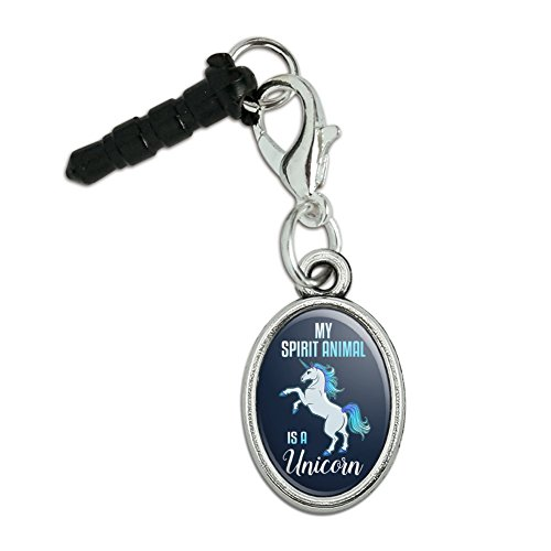 Graphics and More My Spirit Animal is a Unicorn Mobile Cell Phone Headphone Jack Anti-Dust Oval Charm fits iPhone iPod Galaxy