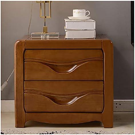テーブル ベッドサイドテーブルホテルの家具の引出しのキャビネットのロッカーのベッドサイドの小さい収納キャビネット 家具クルミ色