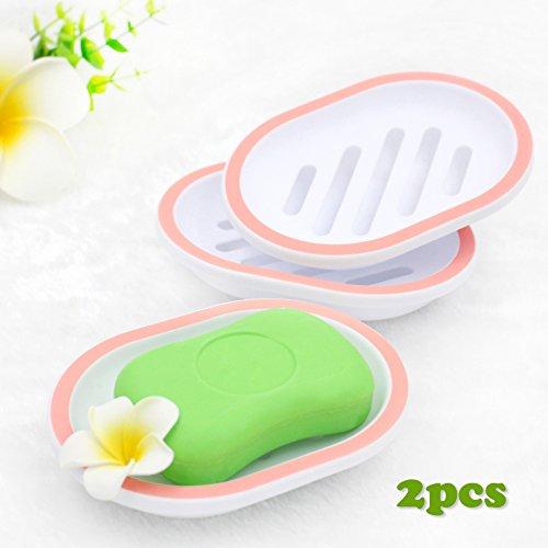 Egomarket 2-pack Soap Dish, Soap Holder, Soap Saver, Easy Cleaning, Dry,...