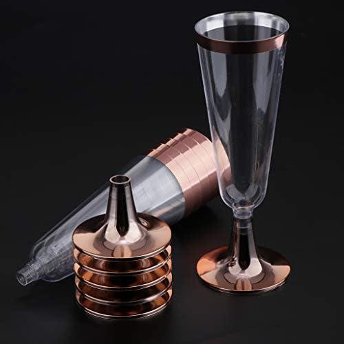 6 Piezas Copas de Vino Tazas de Champán de Plástico Transparente ...