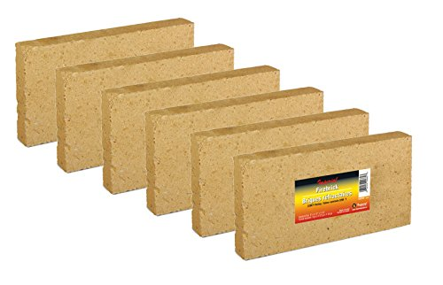 "Imperial Kk0156 Case of 6 Fire Bricks / Firebricks ( 9"" X 4-1/2"" X 1-1/4"")"