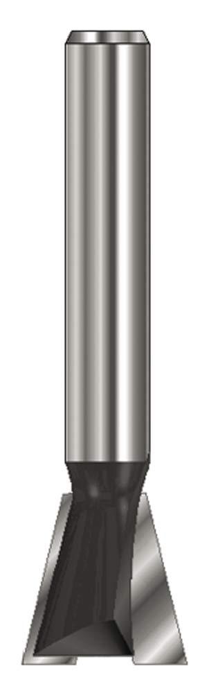 ENT Fraise queue d'arronde Carbure Queue (C) 12 mm, Diamètre (A) 25,4 mm, B 22,2 mm, E 14°, D 40 mm, sans arraseurs