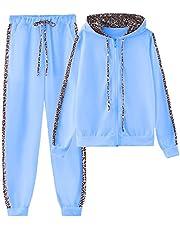 amropi Women's 2 Piece Tracksuit Sweatsuits Sets Hoodie Sweatshirt and Jogging Sweatpants Suit