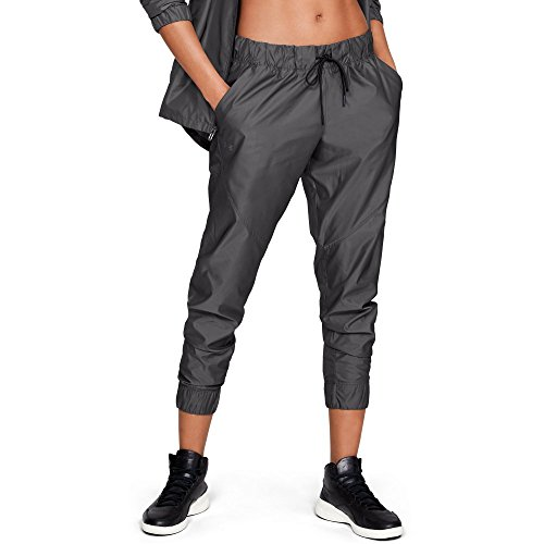 Under Armour Women's Storm Iridescent woven pant, Charcoal (019)/Tonal, Small