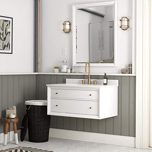 Dorel Living Tribecca 36 Inch Floating Wall Mounted Bathroom Vanity