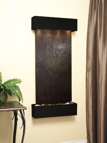 Adagio Cascade Springs Fountain w/Rajah Featherstone in Blackened Copper Finish