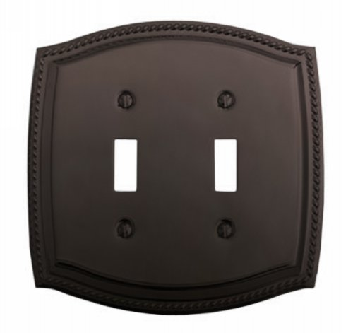 Baldwin 4790.112.CD Double Toggle Rope Design Switch Plate, Venetian Bronze -