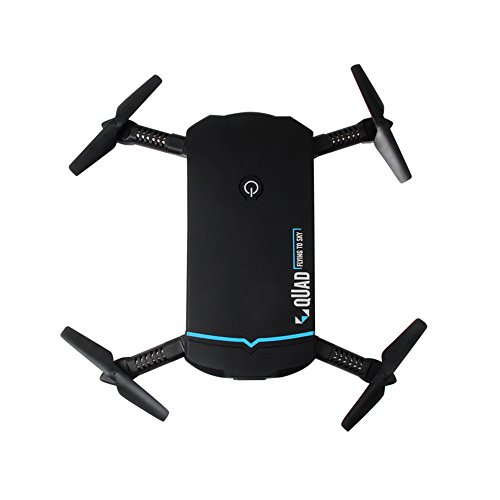 Portable Mini SelfieFolder RC Drone, 6 Axis HD Wifi FPV Camera Headless, Adjust View Angle Quedcopter, Phone Remote Control