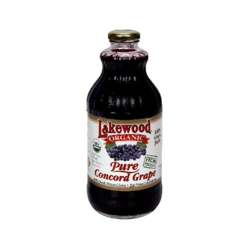 Lakewood Organic Pure Concord Grape Juice, 32 Ounce -- 12 per case.