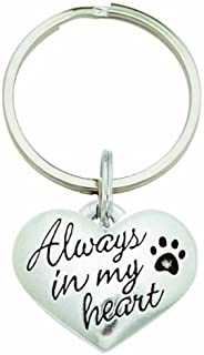 product image for Rockin' Doggie Pewter Keychain, Always in My Heart by Rockin Doggie
