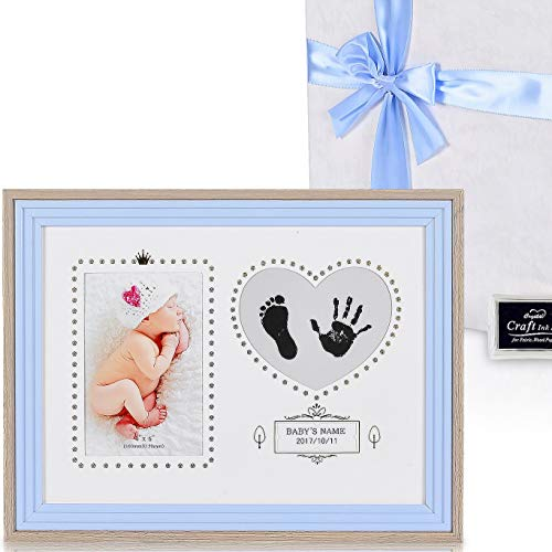 Baby Gifts Picture Frame Kit, Footprint or Handprint Memory Keepsake, First Photo
