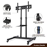TAVR Mobile TV Stand Rolling TV Cart Floor Stand