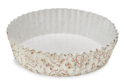 Welcome Home Brands Ruffled Baking Cups, Set of 60 (4 Diameter / 8.5 oz) (60, Brown Blossom) by Welcome Home Brands