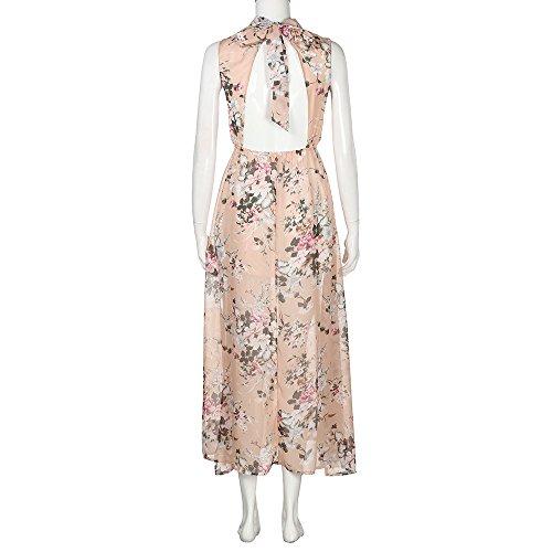 3044504cecd7 Vestito Donna Corta Cocktail Anni Manica  50 Matrimonio Dress Striped Rosa  Abito Swing Party Ginli Abiti ...