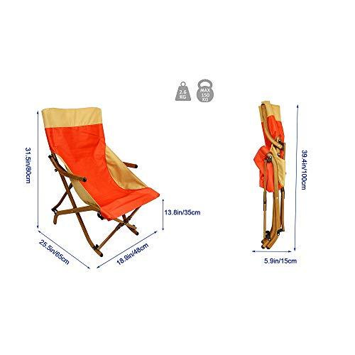 tgbvr ultralätt ryggstol fiskestol lunch lounge stol strand lounge stol hopfällbar stol slingstol