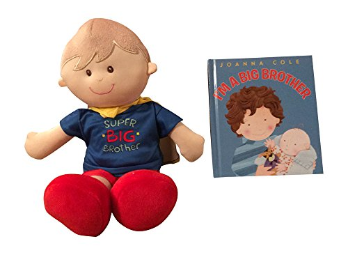 MartLoop I Am a Big Brother Doll and Book Bundle - Super Big Brother Doll with Cape