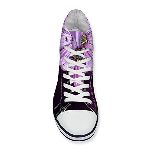 ... For U Design Stilig Lilla Floral Print High-top Snøre På Mote Sneaker  For Kvinner ...