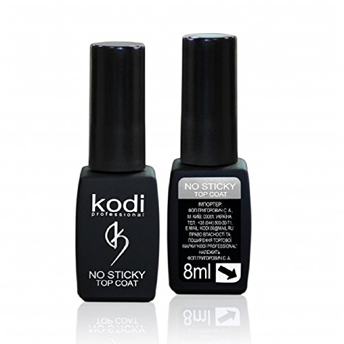 Professional Rubber Top Gel No Sticky By Kodi | 8ml 0.27 oz | Soak Off, Polish Fingernails Coat Kit | For Long Lasting Nails Layer | Easy To Use, Non-Toxic & Scentless | Cure Under LED Or UV Lamp
