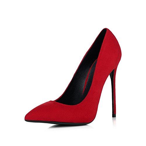 Chaussures Party 8 Nightclub De Cour Femmes Red Mariage Sexy Talons Hauts Professionnel 34 UK Daim Mat Mode 2 EU Rouge Travail 5cm Chaussures Femme UCqZw6a