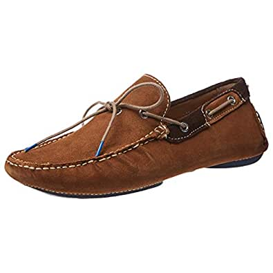 GAS STONE Moccasian Shoes for Men - Tan