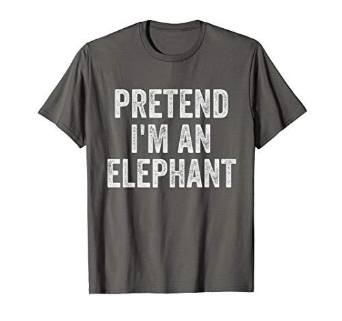 Lazy Halloween Costume Shirt Gift Pretend I'm An Elephant T-Shirt ()