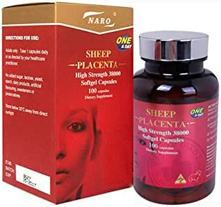Naro Sheep Placenta 38000mg x 100 Softgel Capsules Made in Australia