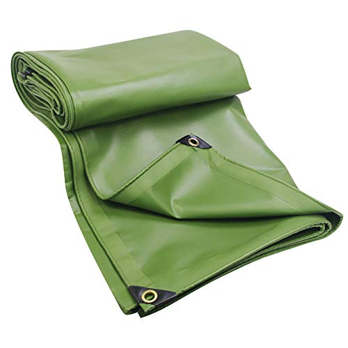 Green Drops Pool Tablecloth (HQCC Green Canvas Thicken Rainproof Tarp With Eyelets Multi-Purpose Truck Dust Cover Camping Sun Shelters Thickness 0.6mm, 600 G/M², (Size : 4mx4m))