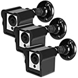 Deyard Upgraded Weatherproof Wall Mount and Cover Case for Wyze Cam 1080p HD Camera and iSmart Alarm Spot Camera Security Steady Indoor Outdoor Adjustable Action 360 Degrees Mount Cover Case (3 Packs)