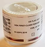 Sealed USPS Forever Stamps, Coil of 100 US Flag Postage Stamps (2016 or 2017 Version) - Shrinkwrapped