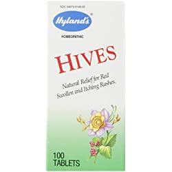 Hyland's Hives Relief Tablets, Natural Relief of Harsh, 100 Quick Dissolving Tablets
