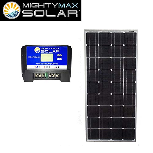 Mighty Max Battery 100 Watts 12 Volts Monocrystalline Solar Bundle Kit brand product