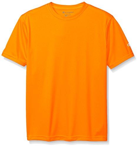 Champion Boys Boys' Big Double Dry Short Sleeve Tee, Safety Orange, X-Large