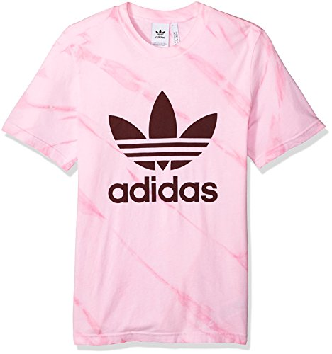 - adidas Originals Men's Trefoil Tee Shirt, Light Pink Tie Dye, L