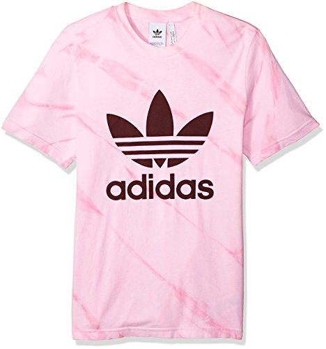 - adidas Originals Men's Trefoil Tee Shirt, Light Pink Tie Dye XL